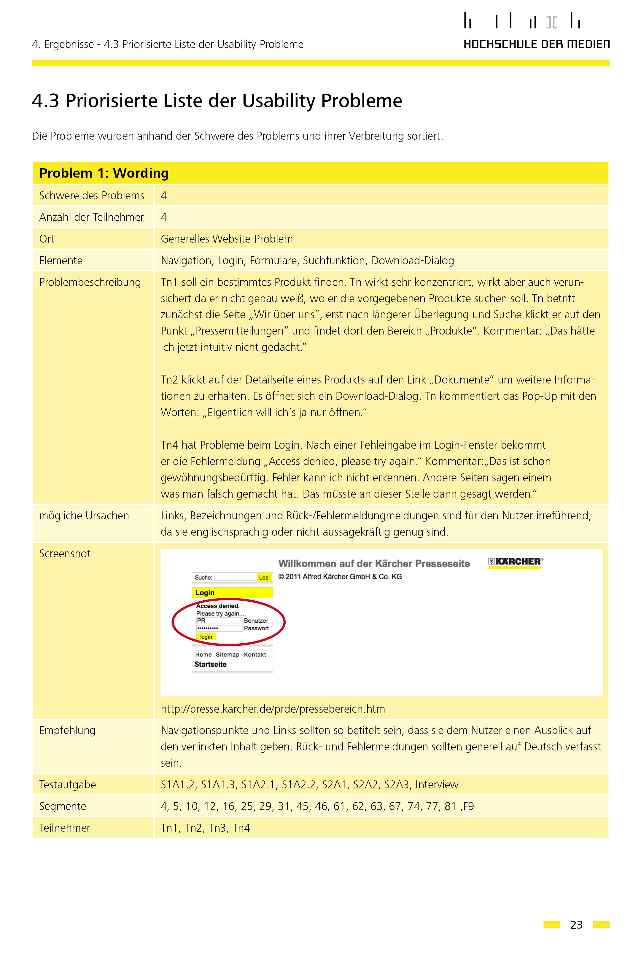 User Centered Design -  Kärcher